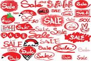 手绘商场销售标志