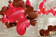 立体心型巧克力EPS矢量素材