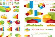 网页数据统计主题EPS矢量素材