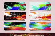 多彩颜料主题卡片设计素材