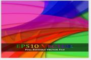 矢量旋转彩虹背景图