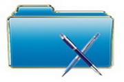 蓝色文件夹图标下载13