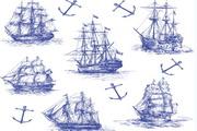 海洋航海矢量设计元素