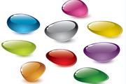 彩色鹅卵石矢量素材
