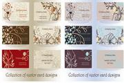 精美植物花纹卡片矢量素材