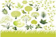 绿色创意树矢量素材