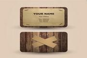 创意木纹卡片矢量素材
