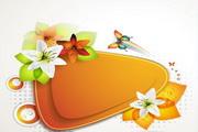 花卉装饰边框矢量素材