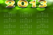 2013日历设计模板矢量素材