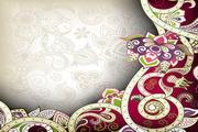 印度花纹背景矢量素材