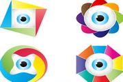 色彩创意眼球矢量素材