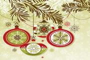 清新圣诞节花纹背景