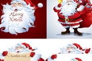 卡通圣诞老人人物头像