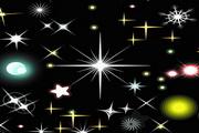 璀璨星光元素矢量图