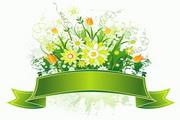 春季banner花纹矢量图