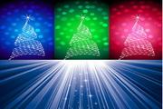 闪光圣诞树矢量素材