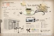 咖啡店主题网页源文件素材