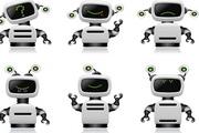 智能机器人矢量...