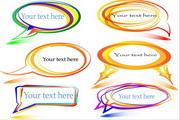 多彩创意对话框矢量设计