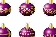 圣诞彩球矢量EPS素材