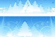 圣诞节雪景背景EPS矢量素材