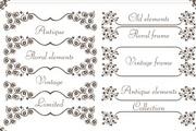植物花纹边框矢量设计素材