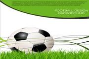足球背景矢量设计模板