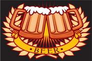 啤酒标志矢量素材