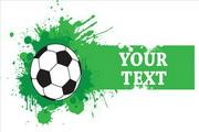 足球标签矢量素材