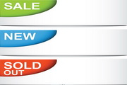 SALE销售横幅矢量素材