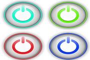 立体网页按钮矢量设计
