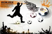 创意足球海报矢量素材