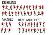 足球运动员全运动动作矢量