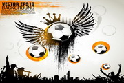 足球创意视觉海报矢量图