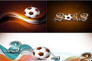 足球比赛主题矢量图