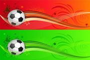 动感足球主题矢量图