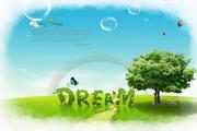 绿树美丽风景PSD素材