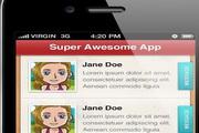 iPhone手机应用程序界面设计素材