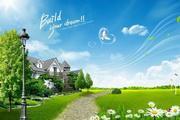 春季户外风景PSD素材
