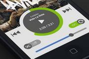 iphone音乐播放器界面设计