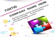 创意盒子名片设计PSD素材