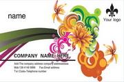 时尚花卉卡片PSD素材