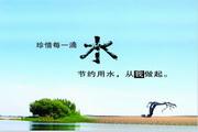 节约用水psd环保海报