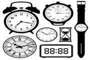 黑白钟表矢量