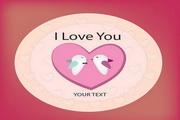 爱心甜蜜卡片矢量设计