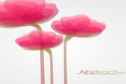 幻彩粉红鲜花