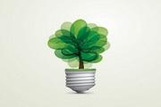 绿色创意灯泡矢量素材