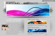 创意网页模板矢量素材