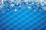 精美雪花背景