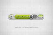 音频播放器UI设计PSD文件